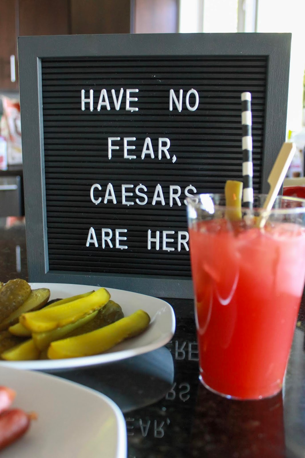 """""""have no fear, caesars are here"""" letter board and build it yourself caesar bar"""