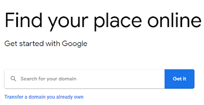 buy domain with google