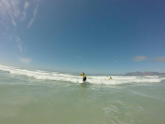 Ich glaube, das bin ich beim Surfen...