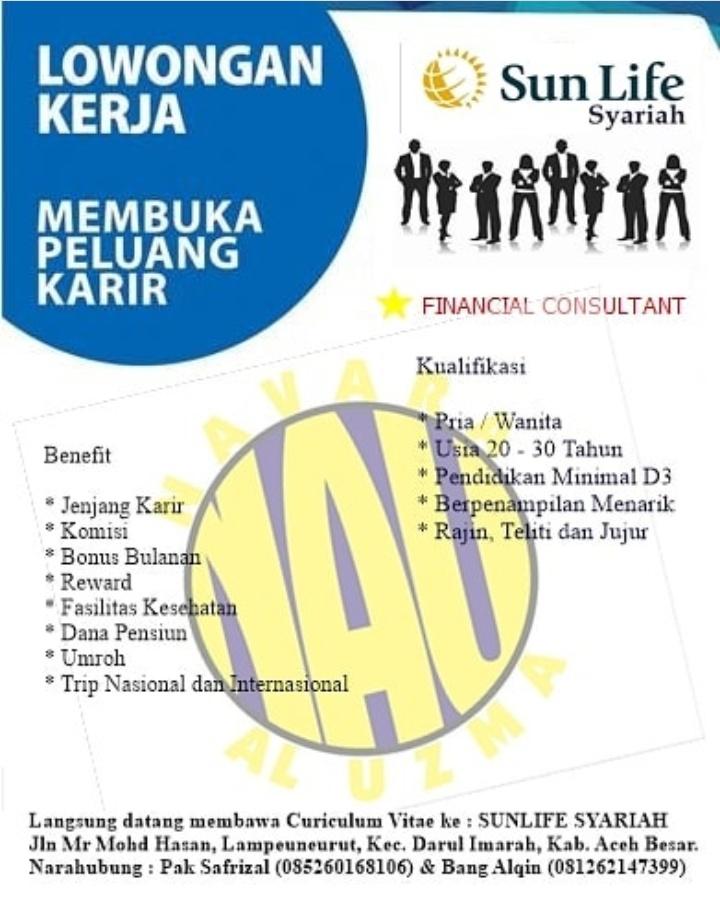 Lowongan Kerja Sun Life Syariah Aceh Lowongan Kerja Aceh