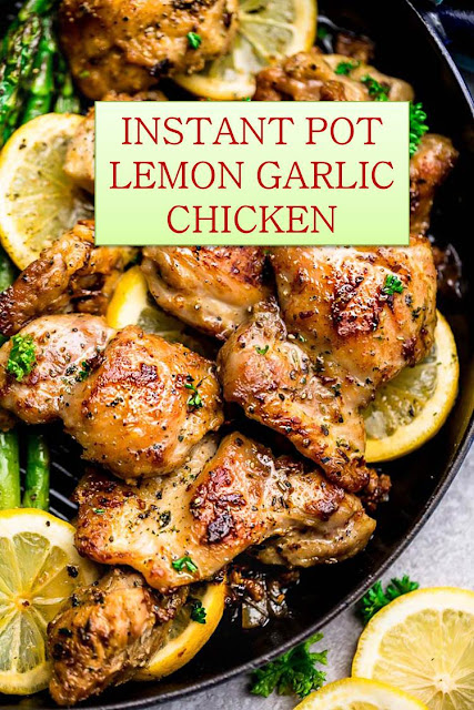 INSTANT POT LEMON GARLIC CHICKEN #INSTANT #POT #LEMON #GARLIC #CHICKEN #INSTANTPOTLEMONGARLICCHICKEN
