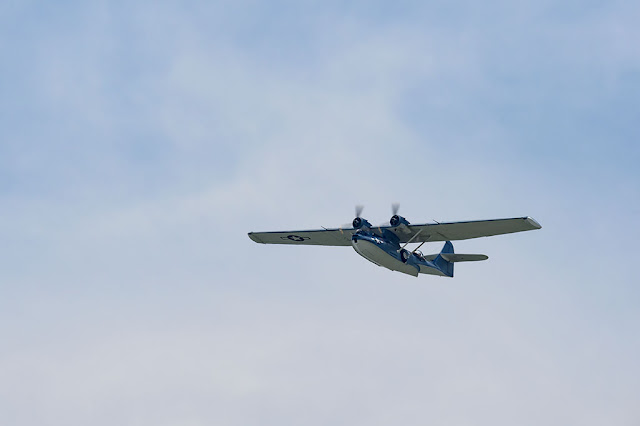 Consolidated PBY Catalina during WWII Flyover in DC