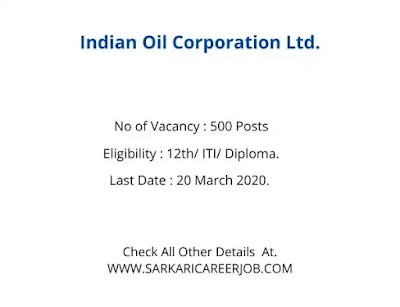 Indian Oil Refinery Recruitment 2020