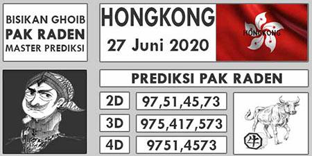 Prediksi Pak Raden Togel Hongkong Minggu