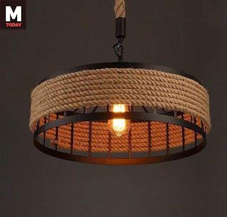 أفكار بالصور لاستخدام الحبال في تصميم وحدات الإضاءة