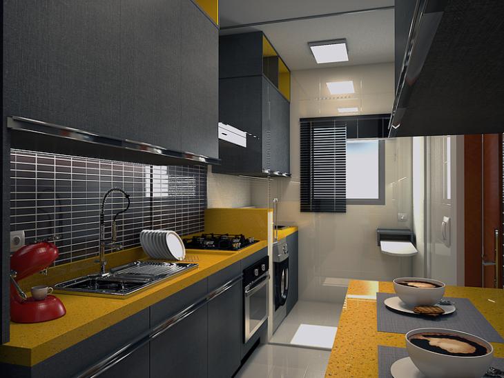 Construindo Minha Casa Clean Cozinha Planejada Pequena