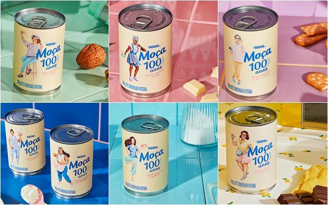 COMER & BEBER: Pela primeira vez em 100 anos, Leite Moça® retira camponesa das latas para dar espaço a personagens reais