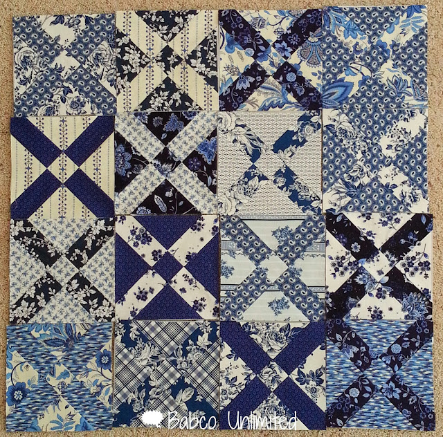 BabcoUnlimited.blogspot.com - Old Italian Quilt Block, Blue & White Quilt