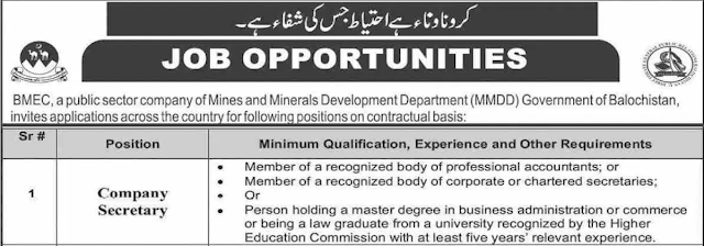 Mines And Minerals Department Jobs 2021 - Jobs in Mines and Minerals
