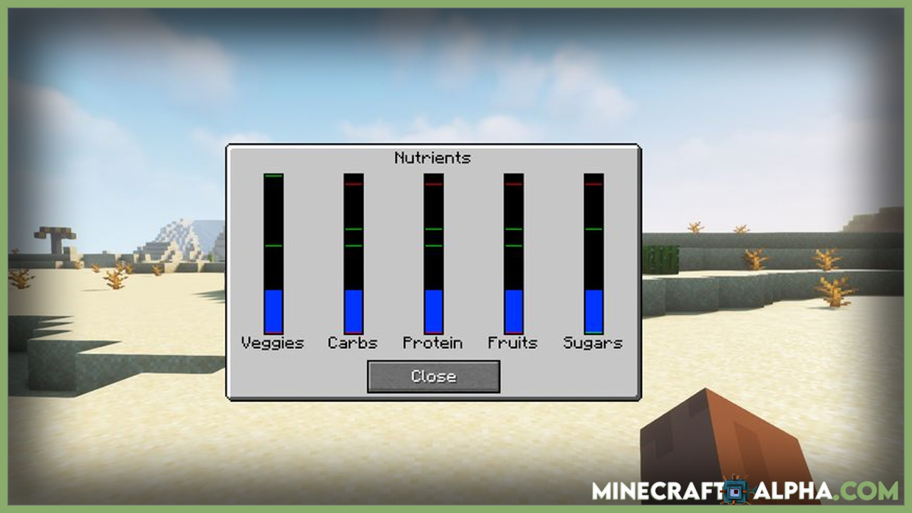 Minecraft Nutritional Balance Mod 1.17.1 (Difficulty, Eating)