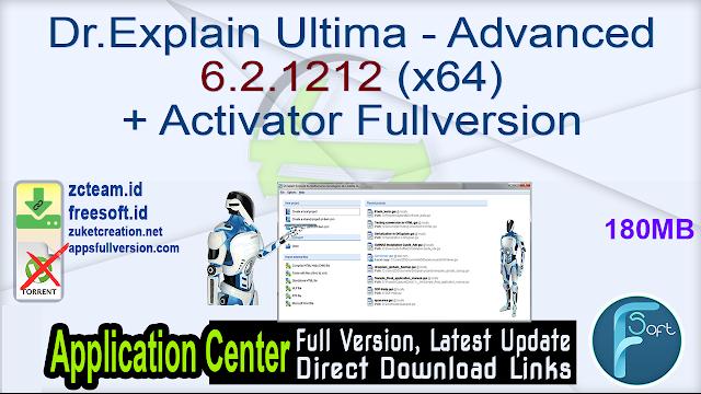 Dr.Explain Ultima – Advanced 6.2.1212 (x64) + Activator Fullversion