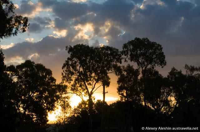 Dramatic sunset in Wagga Wagga