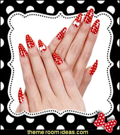 Red Acrylic Nails Christmas Nail Art Bow Tie for Nails Design  Themed nail art design ideas - cute nails - nail art design ideas - themed nail decals - cute nail decals - cute nail stickers - Hollywood stars nail sticker decals -
