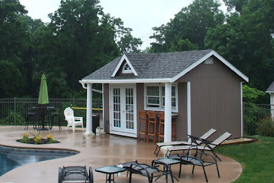 outdoor pool house pictures