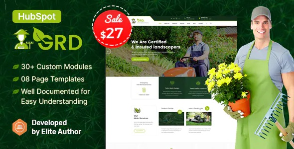 Best Lawn & Landscaping HubSpot Theme