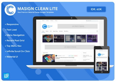 Masign Clean Lite Template Premium Blogger