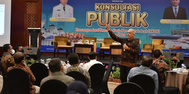 dr. Taqwallah, M. Kes, buka Konsultasi Publik Rancangan Awal Rencana Kerja Pemerintah Aceh (RKPA) Tahun 2022