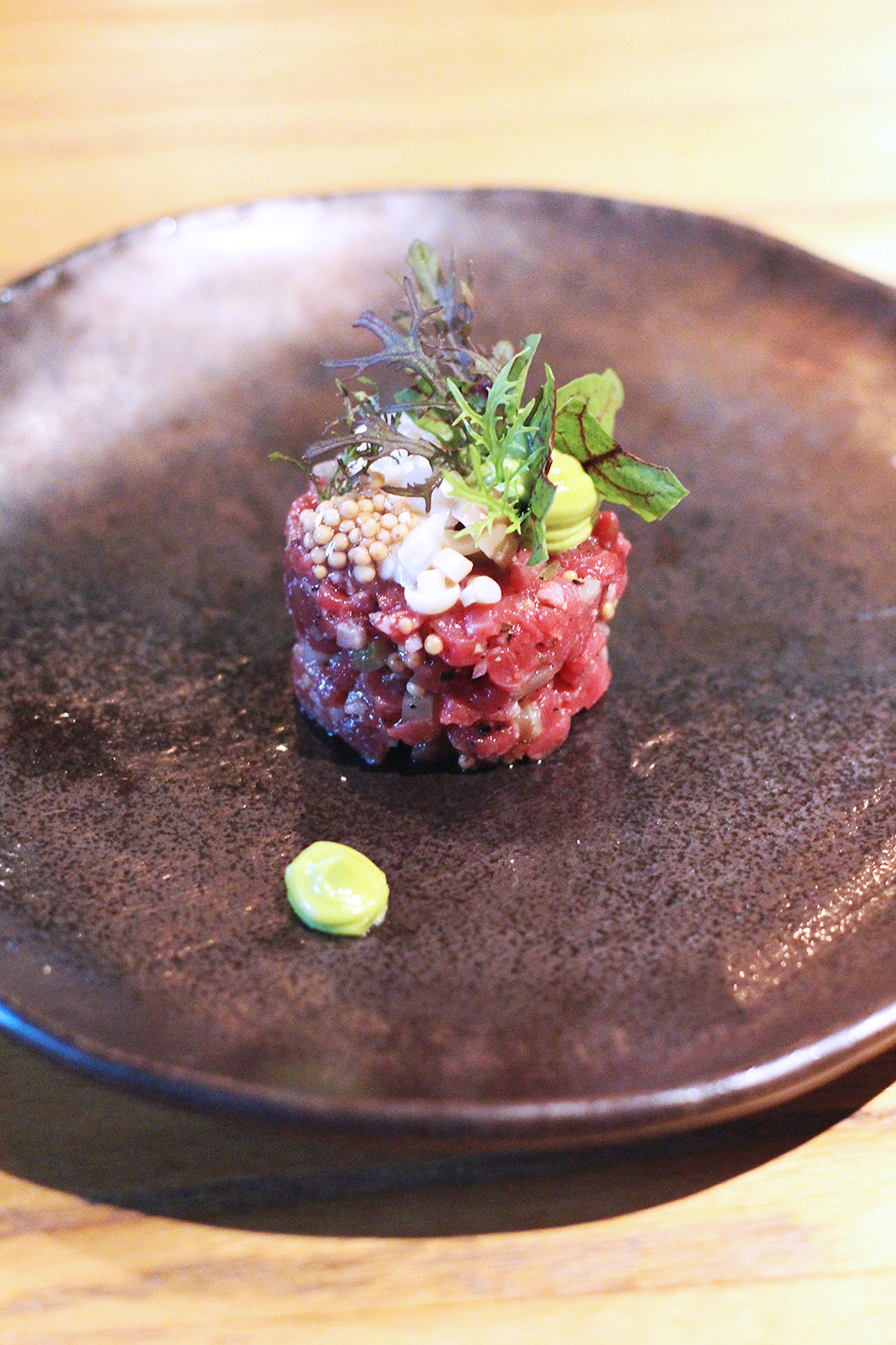 Steak tartare at Rozbrat 20 Restaurant, Warsaw - travel & lifestyle blog