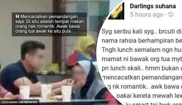 'Pakai smart tapi bawa orang tua uzur ke situ, mencacatkan pemandangan' - Netizen kecam Darlings Suhana