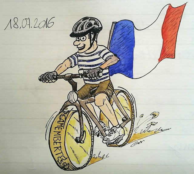 JMJ 2016 le vélo avec des Français