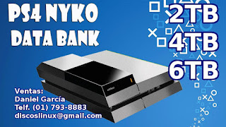 Ps4 Nyko Data Bank Soporte Disco Duro 2tb 4tb 6tb Stock Peru