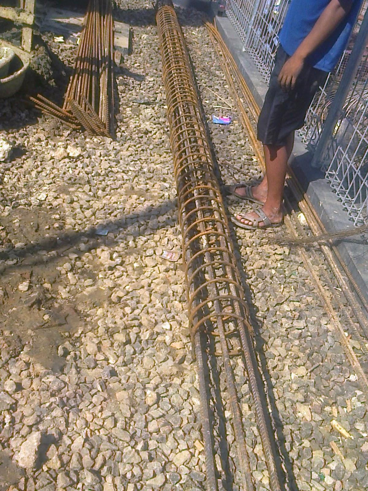 Besi Tulangan strauss pile di Jakarta Utara