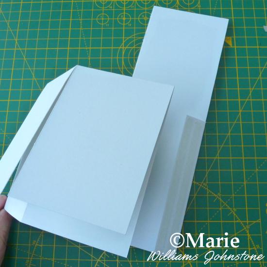Assembling the pop up box card