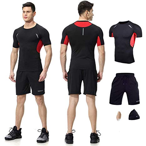 red black activewear