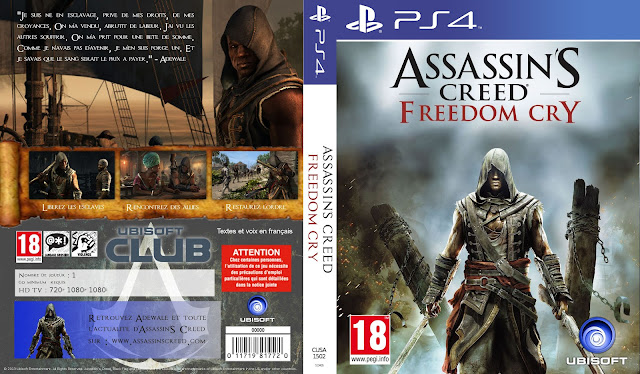 Capa Assassins Creed Freedom Cry PS4
