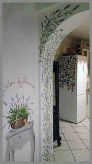Lawenda na ściane cz.2 – Lavender on wall part 2