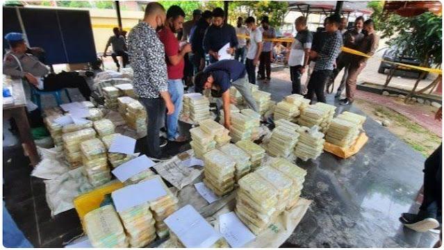 Wow! 353 Kg Sabu Mau Diselundupkan ke Indonesia Tapi Gagal