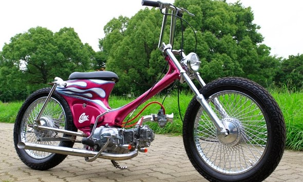 3# Modifikasi Motor Honda C70 Ala Ghost Rider