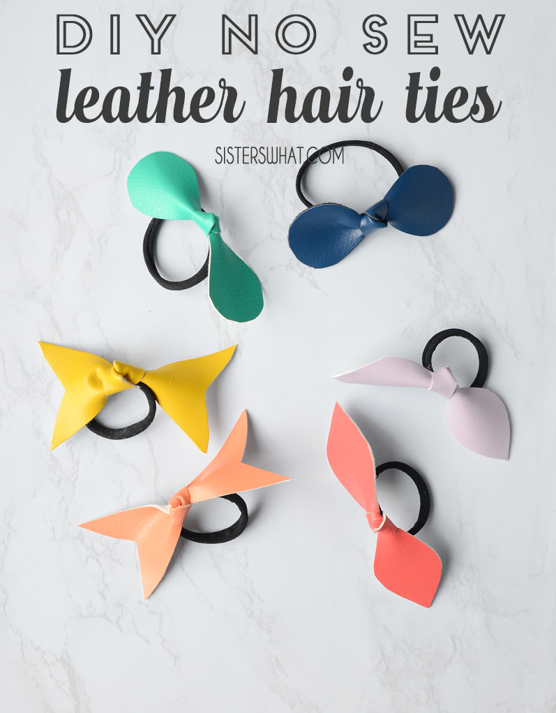 DIY no sew leather hair ties
