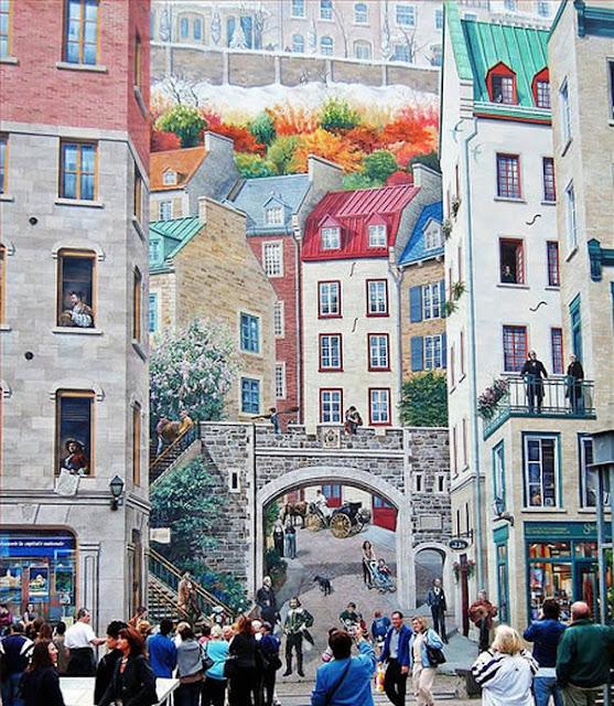 Grafiti atau Lukisan Dinding gedung tingkat bangunan tinggi