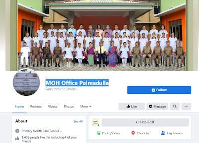 MOH office Pelmadulla Facebook page