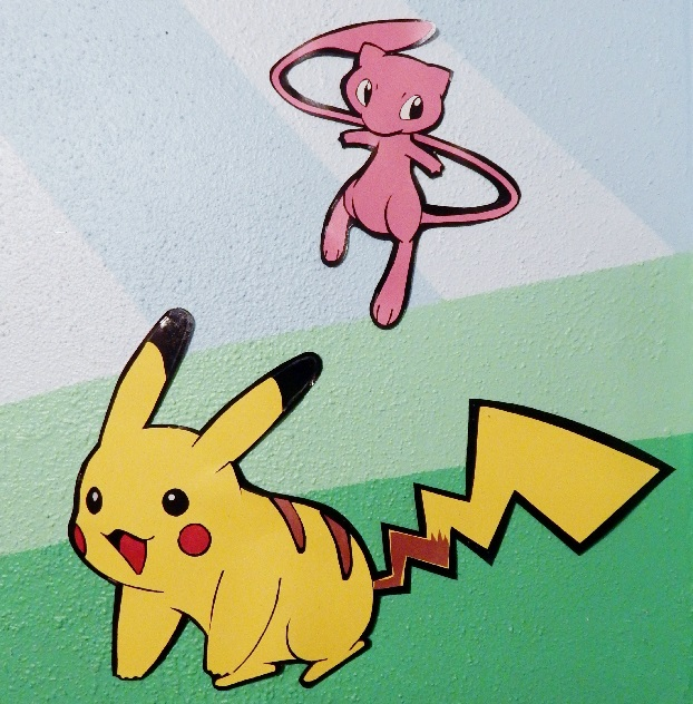 Pokemon Pikachu and Mew