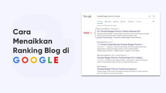 cara menaikkan ranking blog di google