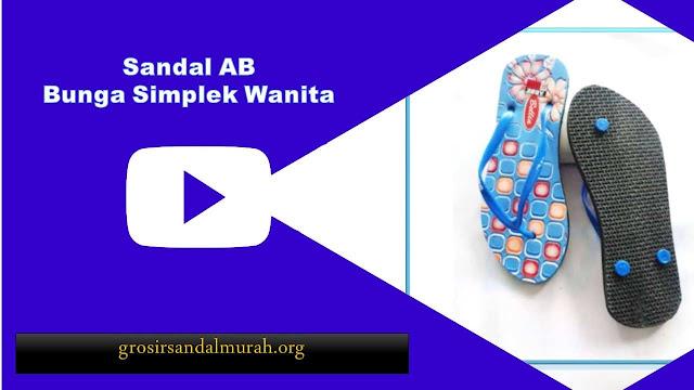 Grosirsandalmurah.org - Sandal Wanita - Ab Sablon Bunga Simplek