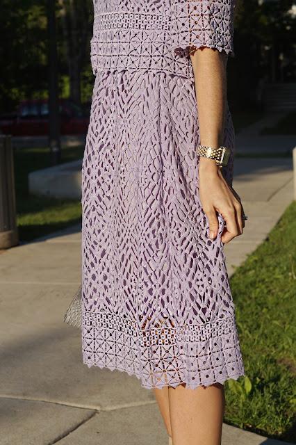 purple two piece chic wish dress