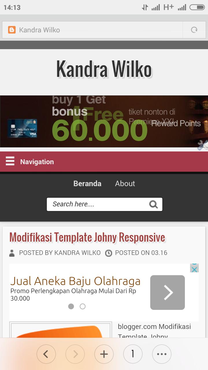 iklan dibawah postingan blog mobile