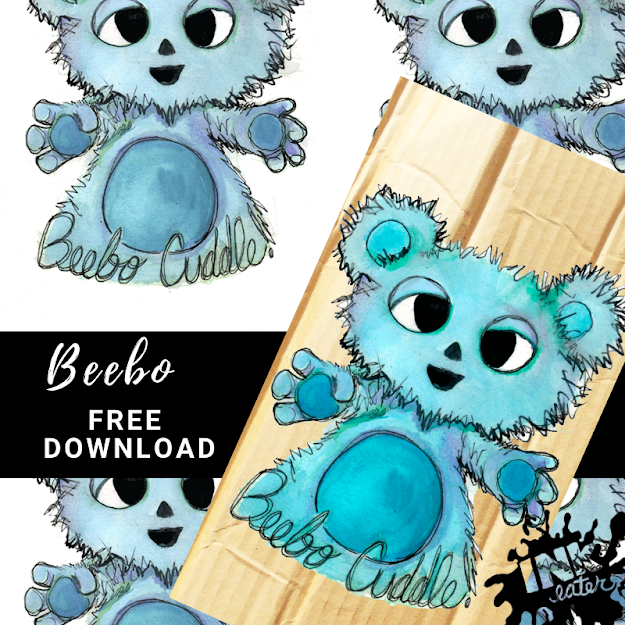 Free Downloadable Beebo Cuddle Card & Background - Feat. Beebo from Legends of Tomorrow!