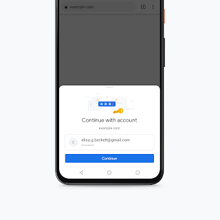 Biometric authentication for payment methods in Chrome on Android.