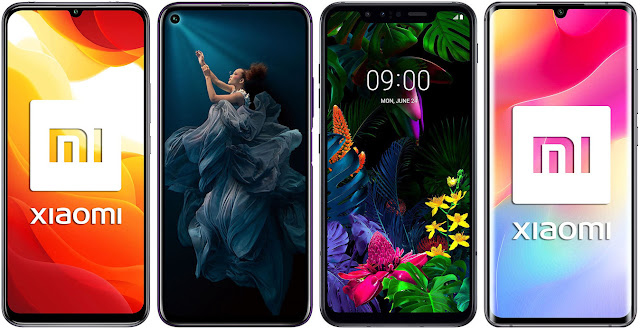 Xiaomi Mi 10 Lite 5G vs Honor 20 Pro 256 GB vs LG G8 Smart Green Thinq vs Xiaomi Mi Note 10 Lite