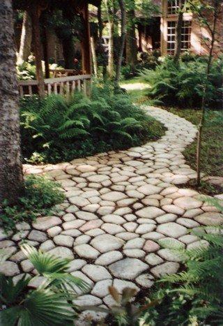 Two men and a little farm quikrete cobblestone path mold for Walk maker ideas