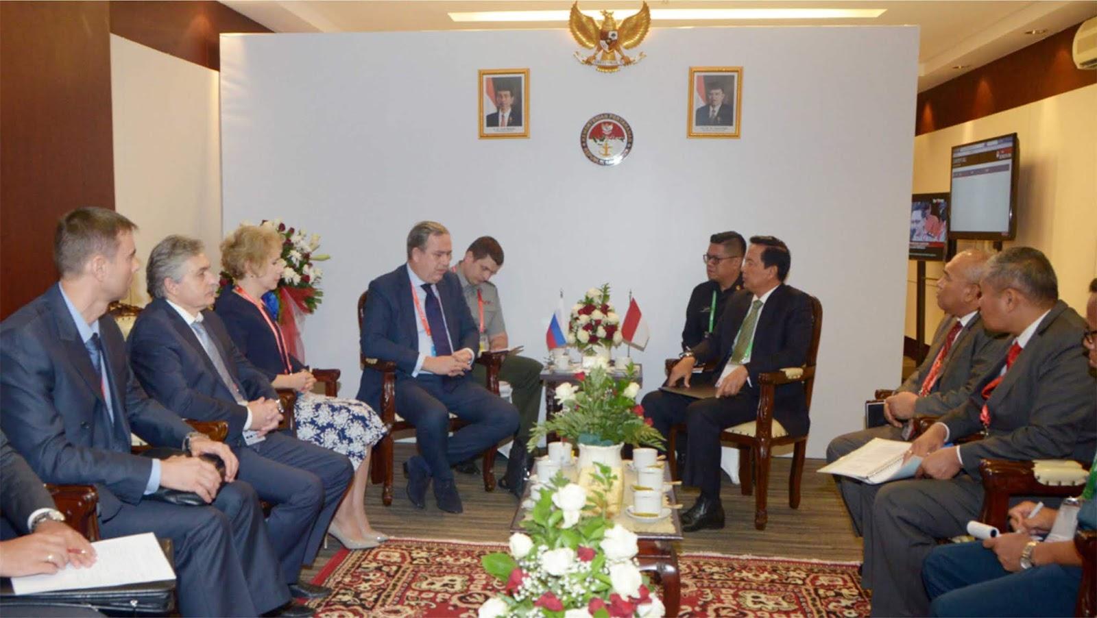 Delegasi Indo Defence Dari Turki dan Rusia diterima Sekjen Kemhan Berharap Kerja Sama Industri Pertahanan Meningkat