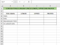 Cara Menggunakan Fungsi Upper Lower dan Proper Excel