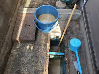 泥水除去状況