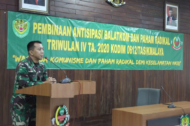 Dandim 0612/Tasikmalaya Membuka Kegiatan Antisipasi Balatkom dan Paham Radikalisme