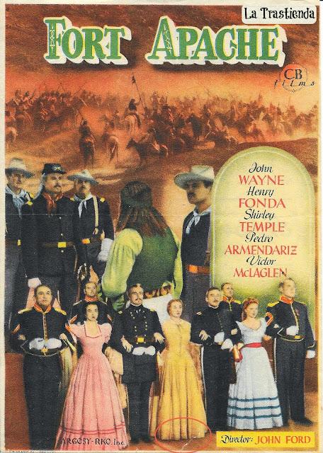 Programa de Cine - Fort Apache - John Wayne - Henry Fonda - Shirley Temple