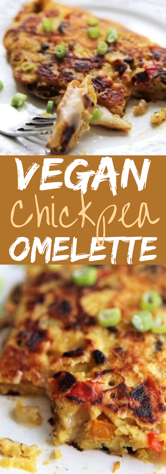 Vegan Chickpea Omelette #breakfast #vegan